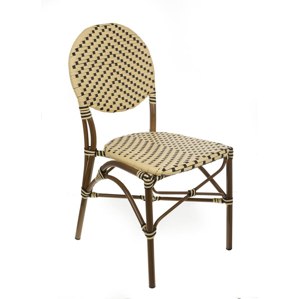 chair design brands adams stackable plastic adirondack chairs aspen brown aluminum cream and black wicker bistro commercial grade outdoor dining