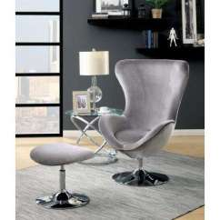 High Chair Egg Kmart Table And Chairs Review Grey Gray Accent The Home Depot