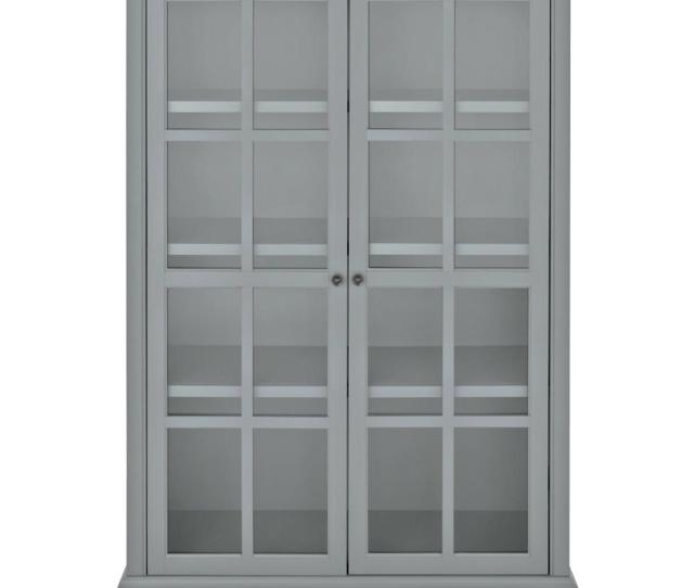 Home Decorators Collection Hamilton 60 In H Grey Glass Door Bookcase