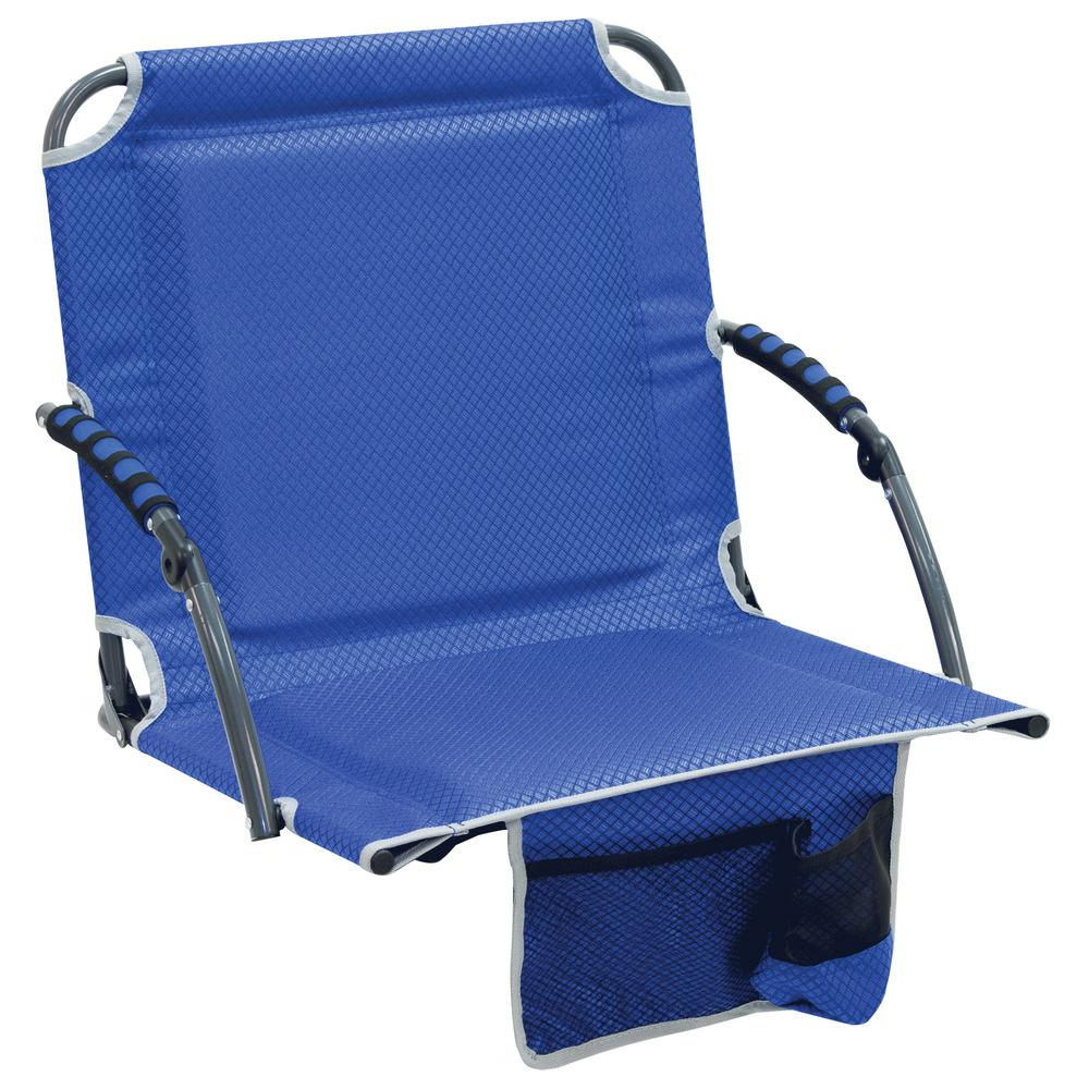 stadium chairs for bleachers with arms leather wingback recliner chair rio bleacher boss pal blue folding seat padded armrests