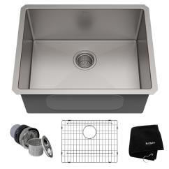 Stainless Steel Undermount Kitchen Sinks Home Depot Tiles Kraus Standart Pro 23in 16 Gauge Single Bowl Sink