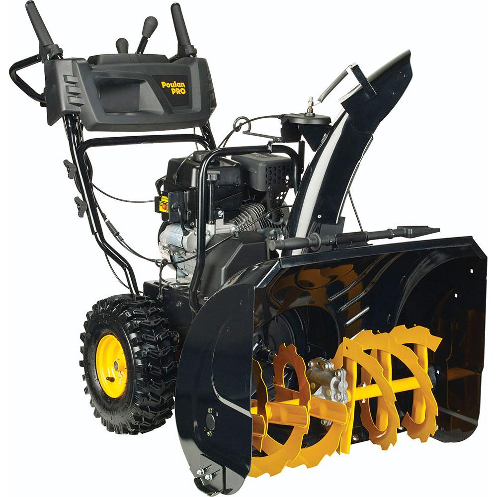 hight resolution of poulan pro pr270 27 in two stage electric start gas snow blower