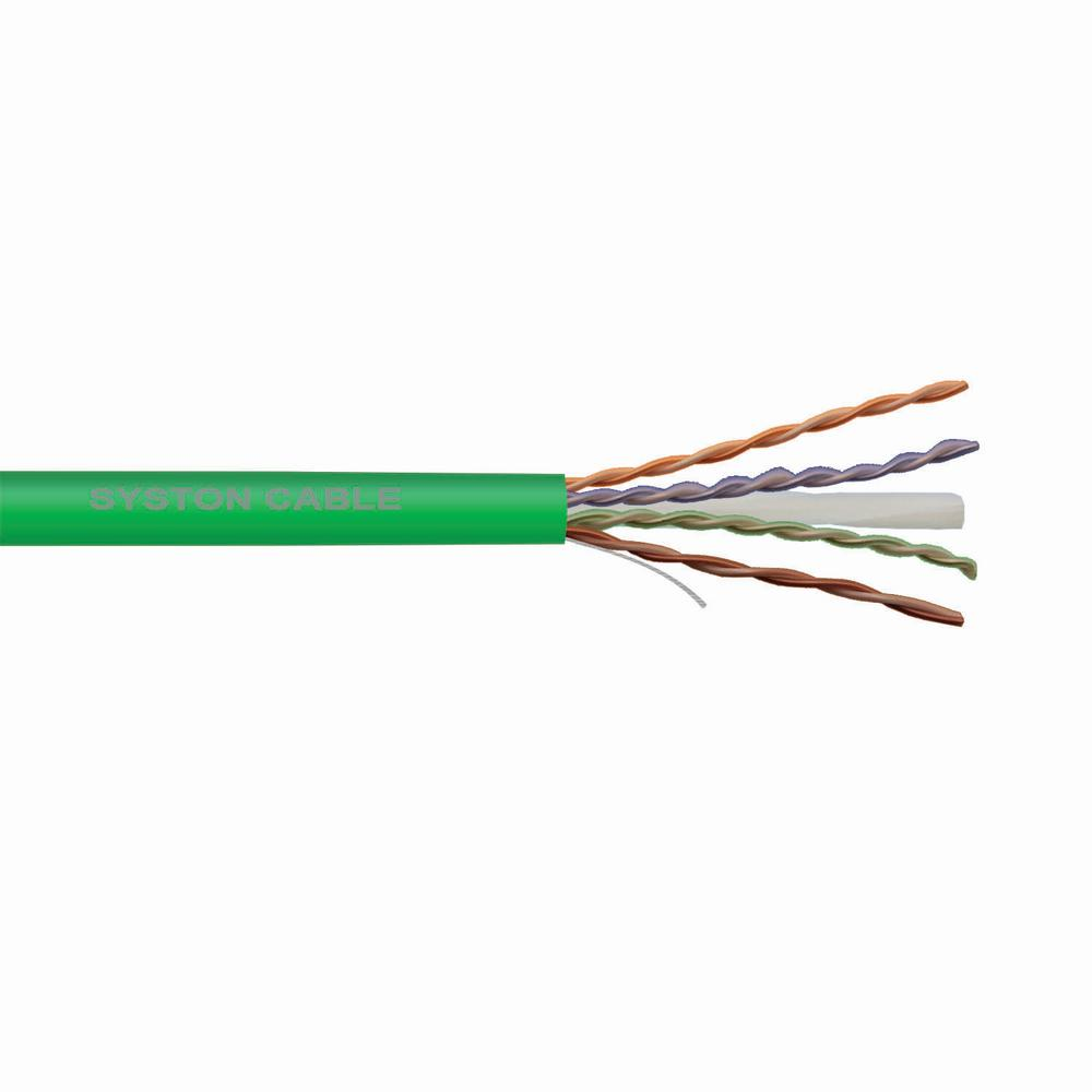 medium resolution of cat 6 solid plenum 1000 ft green 23 awg 4 pair unshielded twisted