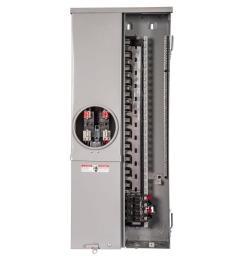 siemens 200 amp 24 space 42 circuit flush mount solar ready meter load center [ 1000 x 1000 Pixel ]