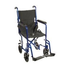 Transport Wheel Chair Outdoor Folding Chairs Kmart Drive Lightweight Wheelchair In Blue Atc19 Bl The Home Depot