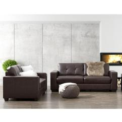 2 Piece Brown Leather Sofa Beds And Futons Corliving Club Tufted Chocolate Bonded Set