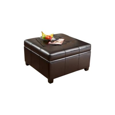 leather ottomans living room