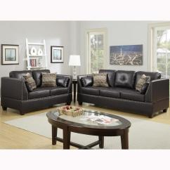 2 Piece Brown Leather Sofa Good For Dogs Venetian Worldwide Abruzzo Espresso Set Bonded Vene F6915 The Home Depot