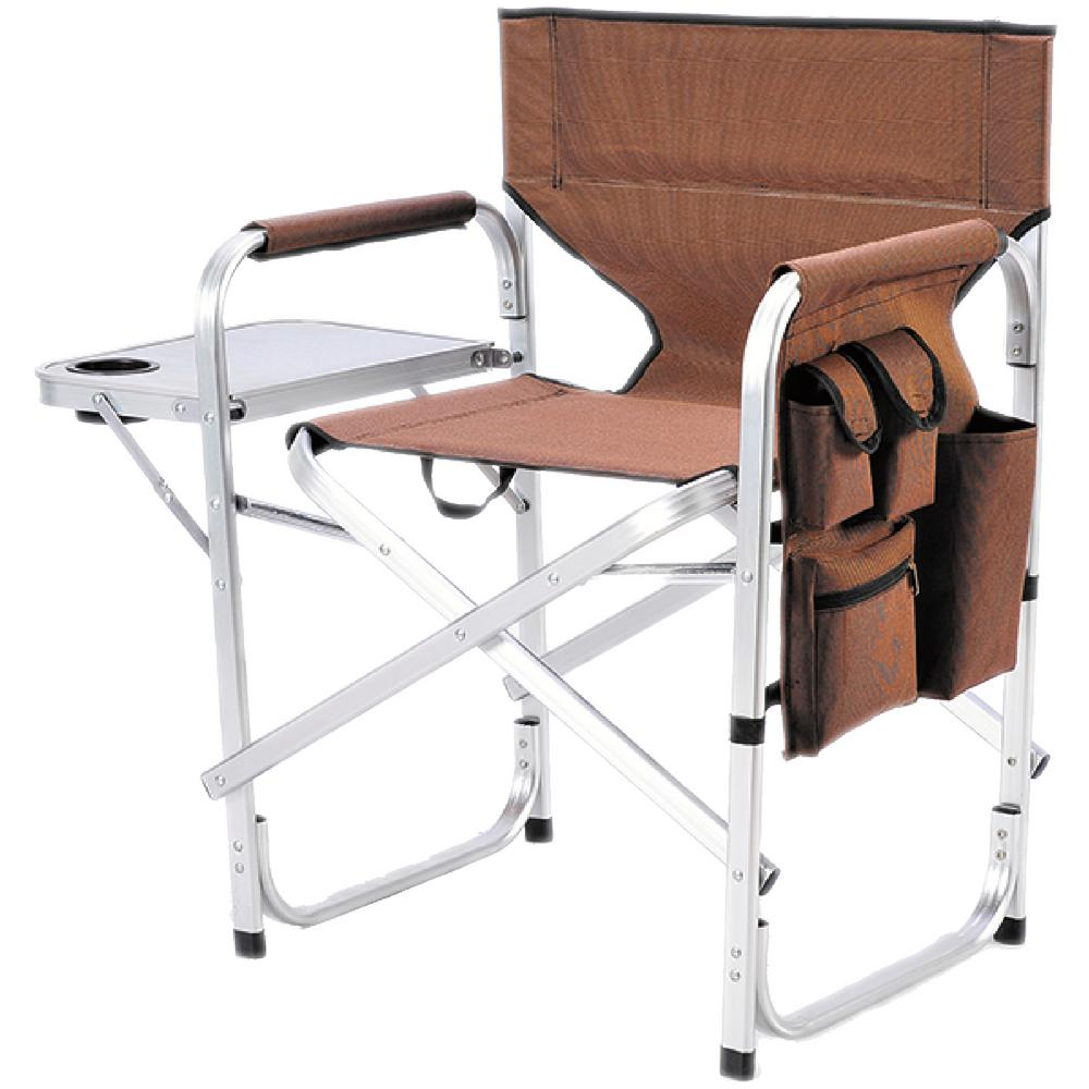 Folding Directors Chair With Side Table Ming S Mark Stylish Camping Brown Full Back Folding Director S Chair