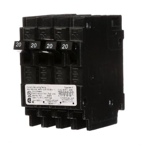 small resolution of triplex two outer 20 amp single pole