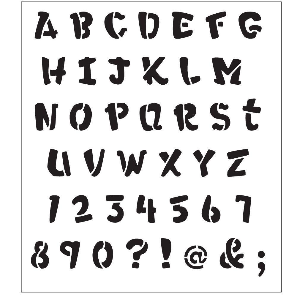 FolkArt Alphabet Heavy Marker Laser Painting Stencils