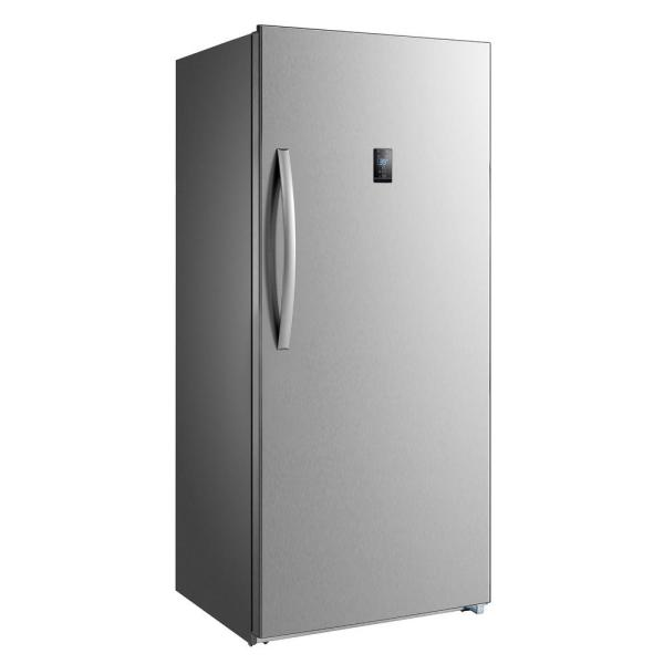 Premium 13.8 Cu. Ft. Frost Free Upright Freezer With Stainless Steel -pfv1386ms - Home Depot