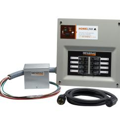generac upgradeable manual transfer switch kit for 8 circuits [ 1000 x 1000 Pixel ]