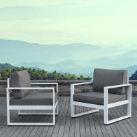 Real Flame Baltic White 2 Piece Aluminum Patio ...