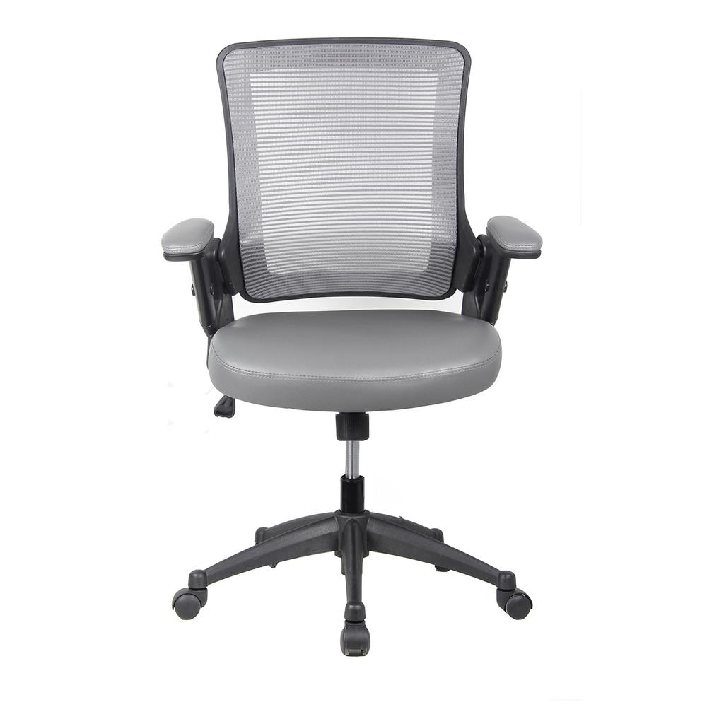 office chair with adjustable arms plycraft lounge techni mobili gray mid back mesh task height
