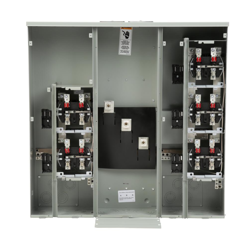 medium resolution of siemens uni pak 5 gang 400 amp ringless style multi family metering