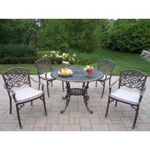 Oakland Living Mississippi 5-piece Patio Dining Set With
