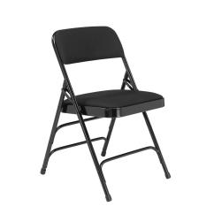 Black Padded Folding Chairs Bedroom Chair Olx Lahore National Public Seating Nps 2300 Series Fabric Upholstered Triple Brace Premium Pack Of 4