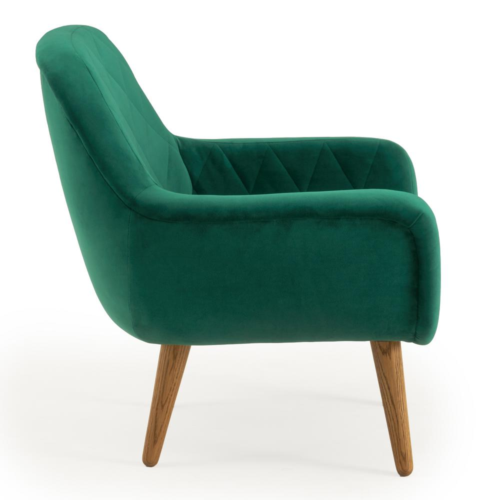 Green Upholstered Chair Rst Brands Isobel Emerald Green Upholstered Diamond Pattern Accent