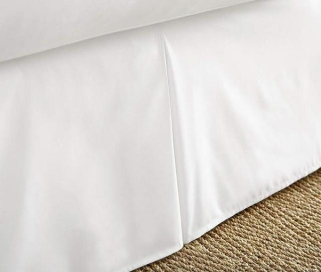 Becky Cameron Pleated Dust Ruffle White Queen Performance Bed Skirt