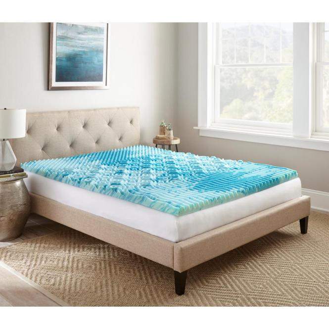 Lane 2 In Queen Gellux Gel Memory Foam Mattress Topper