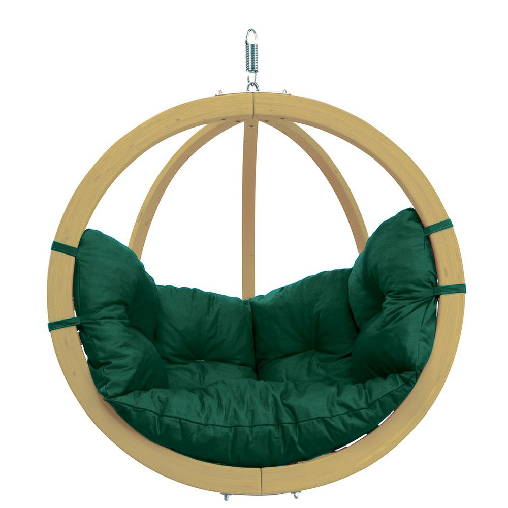 Swinging Chair Byer Of Maine Globo Chair Single Person Laminated Spruce Patio Swing With Agora Green Cushion