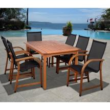 Bahamas Eucalyptus Wood 7-piece Rectangular Patio