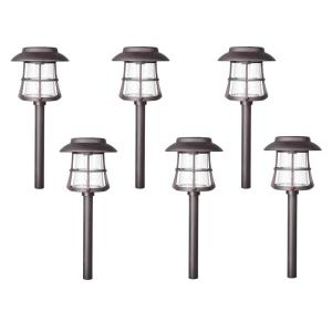 Hampton Bay Solar Bronze Diecast Outdoor Integrated LED