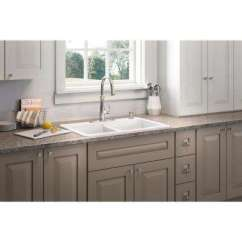 Cast Iron Kitchen Sinks Battery Powered Under Cabinet Lighting Sound Dampening The Home Depot Brookfield Drop In 33 4 Hole Double Bowl