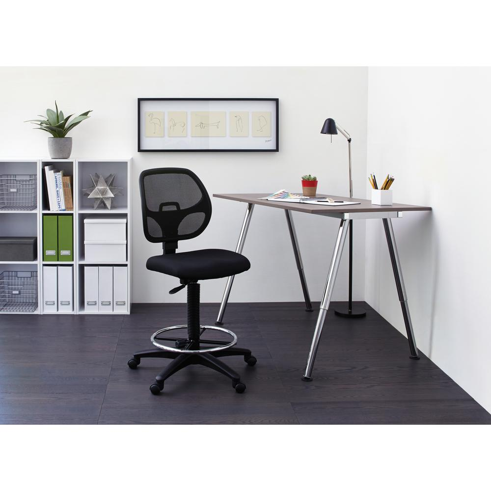 drafting office chair refinishing cane back chairs work smart deluxe black airgrid dc2990 the