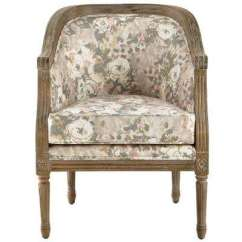 Accent Chairs With Arms Wedding Chair Covers Bows Floral The Home Depot La Petite Barrel Primrose Blush Upholstered Arm Primose Natural