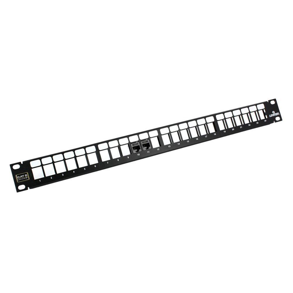 Leviton 24-Port QuickPort 1RU Patch Panel with eXtreme Cat