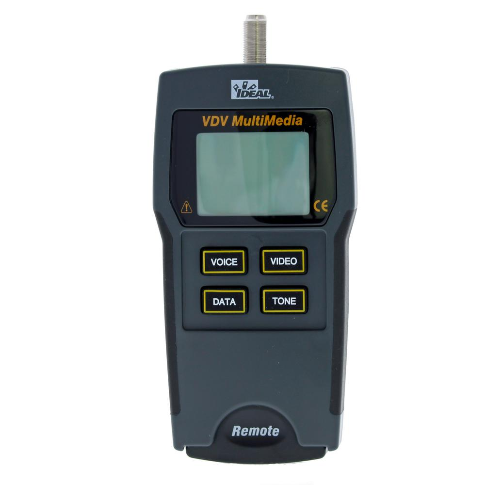 hight resolution of ideal vdv multimedia cable tester 33 856 the home depot cat 5 network cable testers cat 5 wiring tester