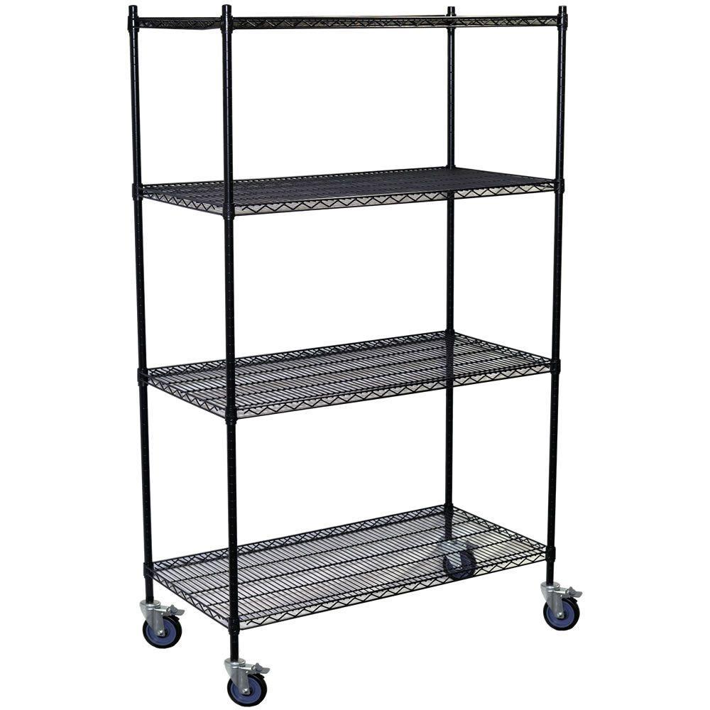 Storage Concepts 80 in. H x 72 in. W x 24 in. D 4-Shelf