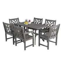 Vifah Renaissance Acacia 7-piece Patio Dining Set With 35