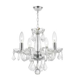 worldwide lighting clarion collection 4 light polished chrome crystal chandelier with clear glass [ 1000 x 1000 Pixel ]
