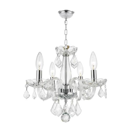 small resolution of worldwide lighting clarion collection 4 light polished chrome crystal chandelier with clear glass