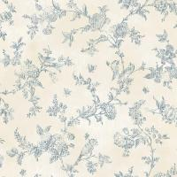 Chesapeake French Nightingale Blueberry Toile Wallpaper ...