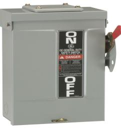 ge 30 amp 240 volt non fused outdoor general duty safety switch 50 amp fuse disconnect box [ 1000 x 1000 Pixel ]