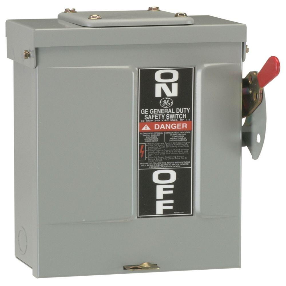 hight resolution of ge 30 amp 240 volt non fused outdoor general duty safety switch 50 amp fuse disconnect box
