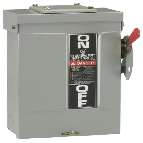 small resolution of ge 30 amp 240 volt non fused outdoor general duty safety switch 50 amp fuse disconnect box