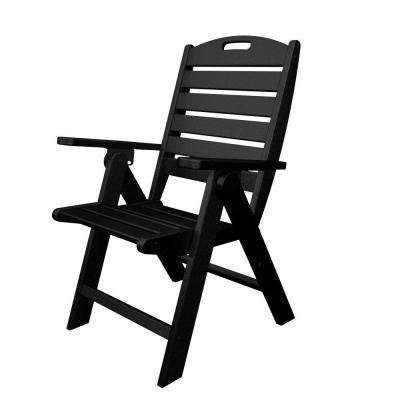 black patio chairs gold dining chair covers polywood outdoor lounge the home depot nautical highback plastic