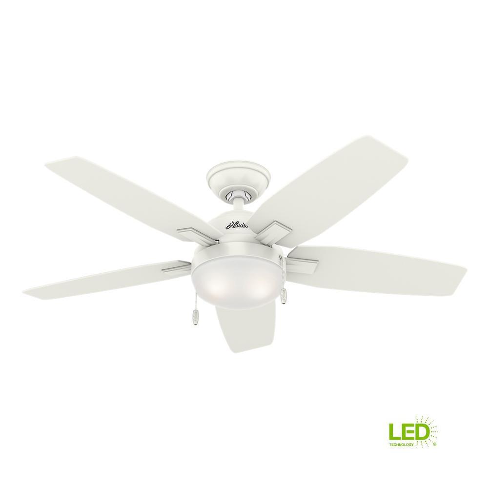 medium resolution of hunter antero 46 in led indoor fresh white ceiling fan with light rh homedepot com