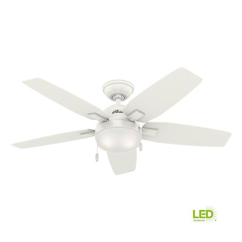 small resolution of hunter antero 46 in led indoor fresh white ceiling fan with light rh homedepot com