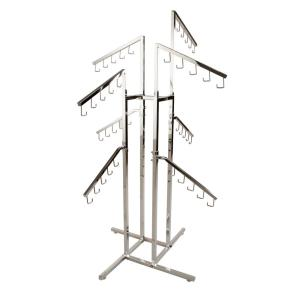 Econoco 36 in. W x 72 in. H 4-Way Adjustable Height Chrome