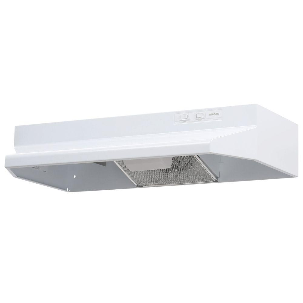hight resolution of broan 40000 series 30 in under cabinet range hood with light in white