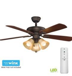 led oil rubbed bronze smart ceiling fan with light [ 1000 x 1000 Pixel ]