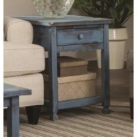 Alaterre Furniture Country Cottage Rustic Blue Antique End ...