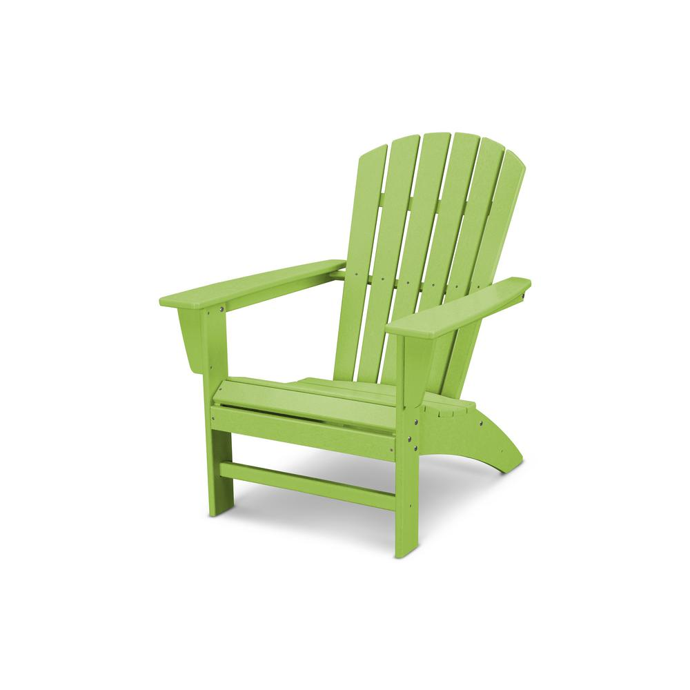 POLYWOOD Traditional Curveback Lime Plastic Outdoor Patio