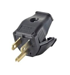 leviton 15 amp 125 volt double pole 3 wire grounding plug black r50 receptacle as well 3 prong electrical outlet on wiring a 110v 15a [ 1000 x 1000 Pixel ]